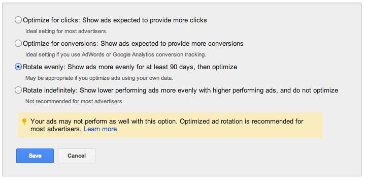 Adwords Advert Variations