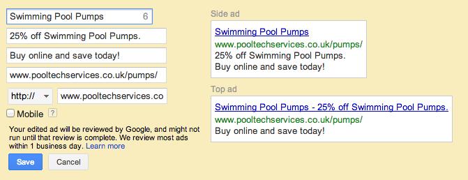 Great Advert Variations