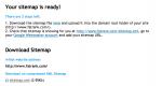 Upload Sitemap XML