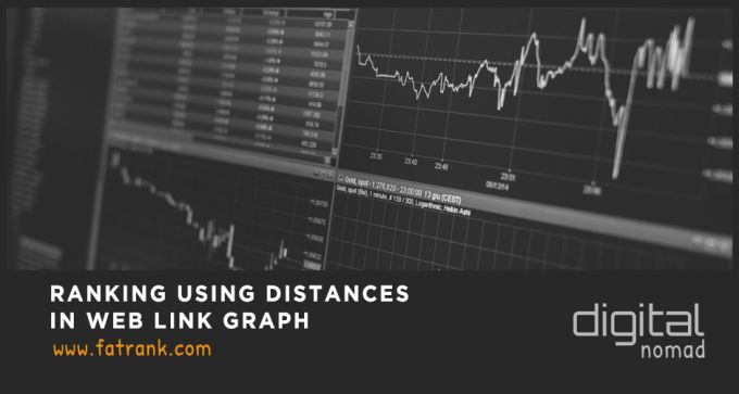 ranking using distances in web link graph