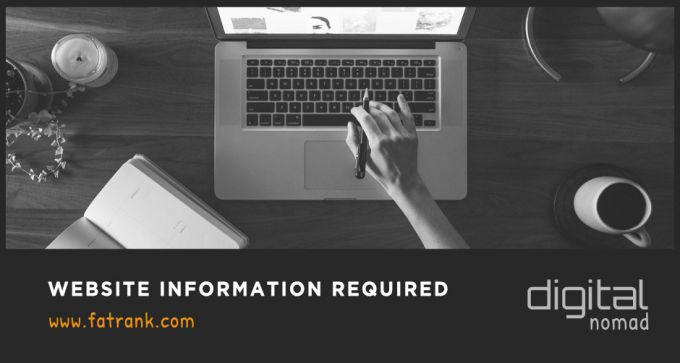 website information required