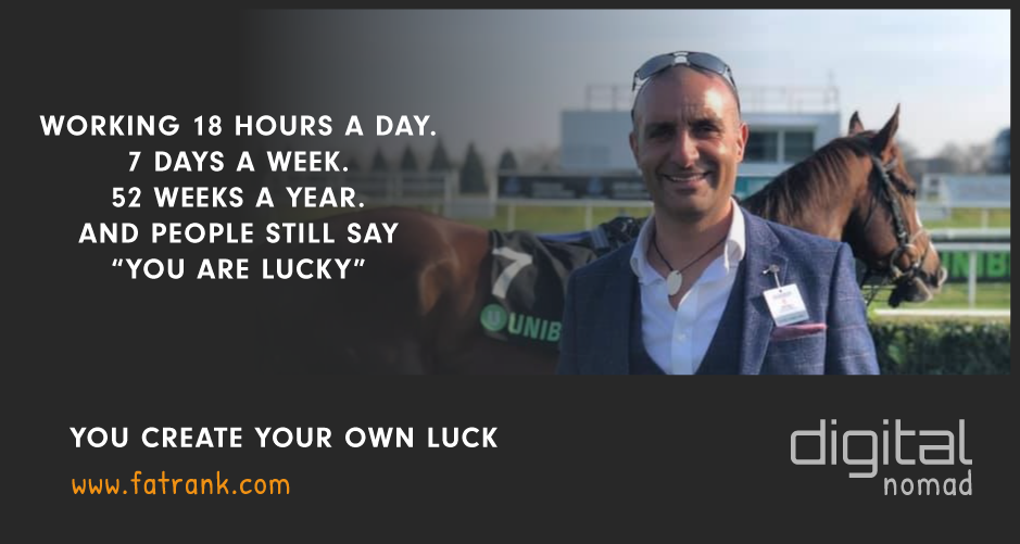 You Create Your Own Luck - James Z Dooley