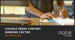 google fresh content ranking factor