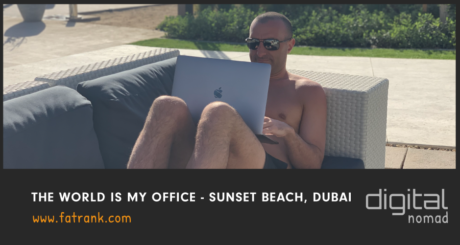 Sunset Beach Dubai - Laptop Lifestyle SEO