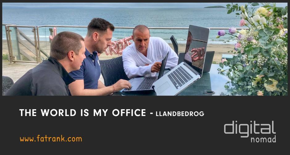 The World is My Office - Llandbedrog, Wales