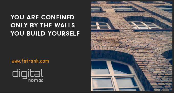 confined by the walls you build yourself