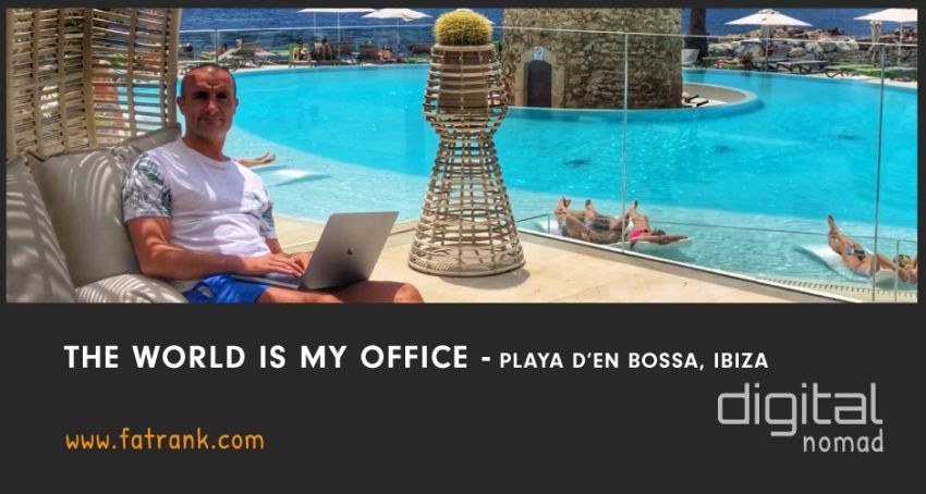 The World is My Office - Playa D'en Bossa, Ibiza