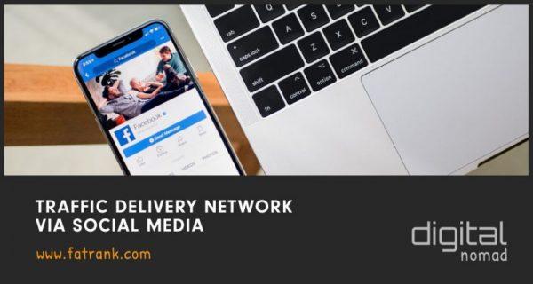 traffic delivery network via social media