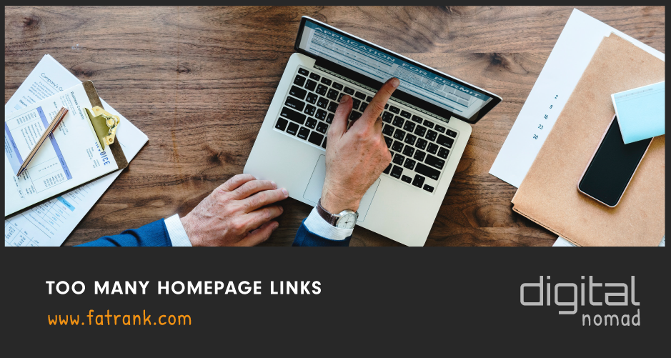 Too Many Homepage Links