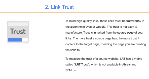 LRT Link Trust by LinkResearchTools
