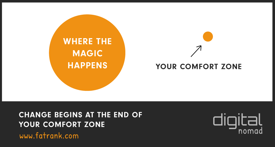 Change Begins Out of Your Comfort Zone