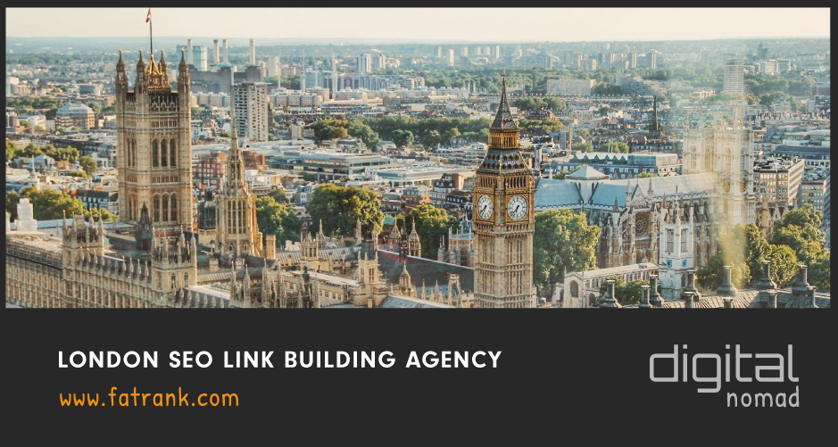 "An Image of London with an annotation below stating ""London SEO Link Building Agency"""
