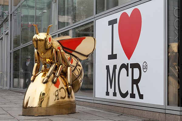 The worker bee is one of the best-known symbols of Manchester