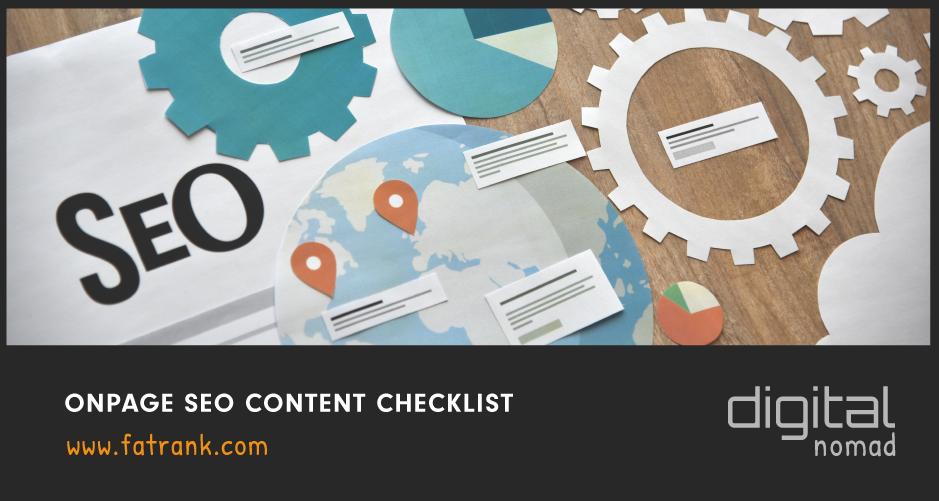 Onpage SEO Content Checklist