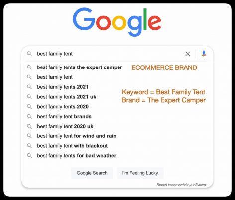 Google Autocomplete Manipulation - Ecommerce Brand