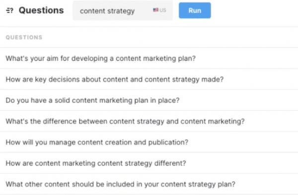 MarketMuse Questions Application