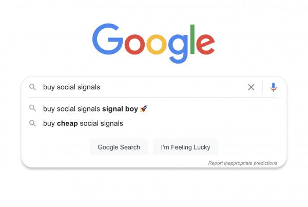 Signal Boy Google Autocomplete
