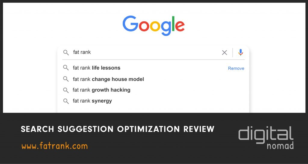 Search Suggestion Optimization Review