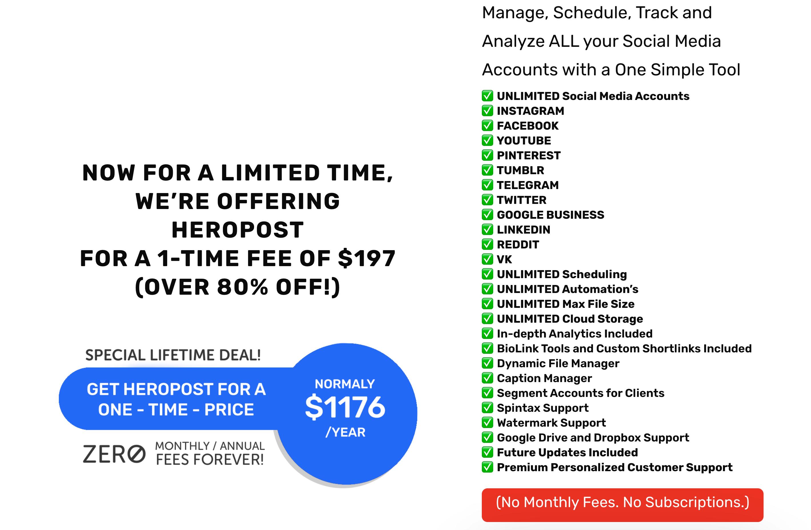 heropost lifetime deal