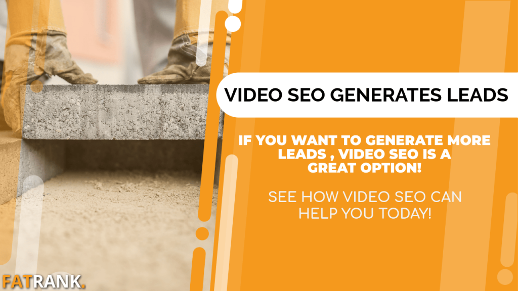 Video SEO generates building leads