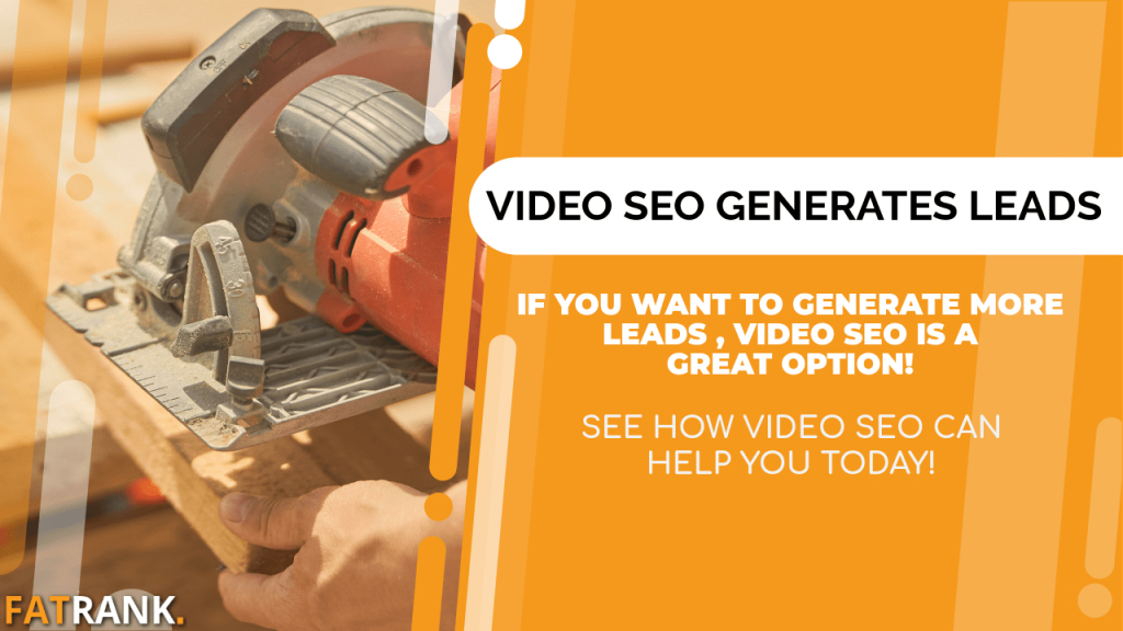 Video seo generates joiner leads